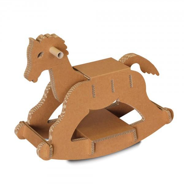 1 Cavallino gioco in cartone Calino